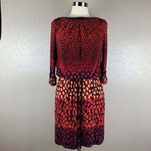 London Times Vibrant Colors Cheetah Print Dress